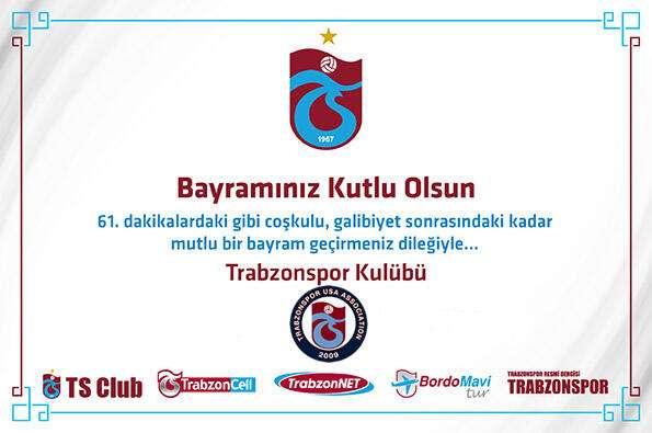 Trabzonspor Ramazan Bayrami Tebrik