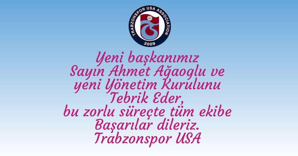 Trabzonspor USA Tebrik
